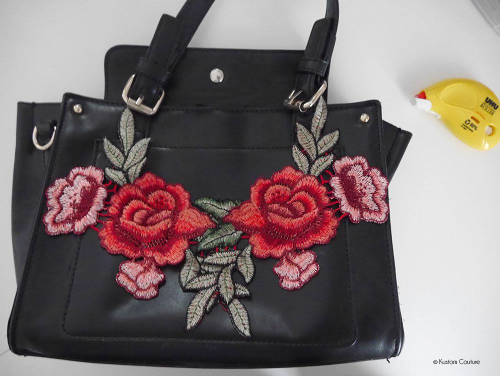 diy mode customiser un sac avec de la broderie kustom couture. Black Bedroom Furniture Sets. Home Design Ideas