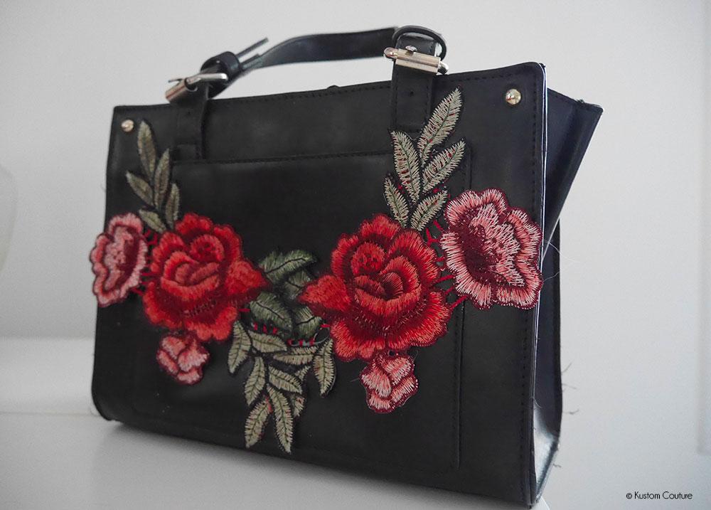 Customiser un sac avec des fleurs brodées | Kustom Couture