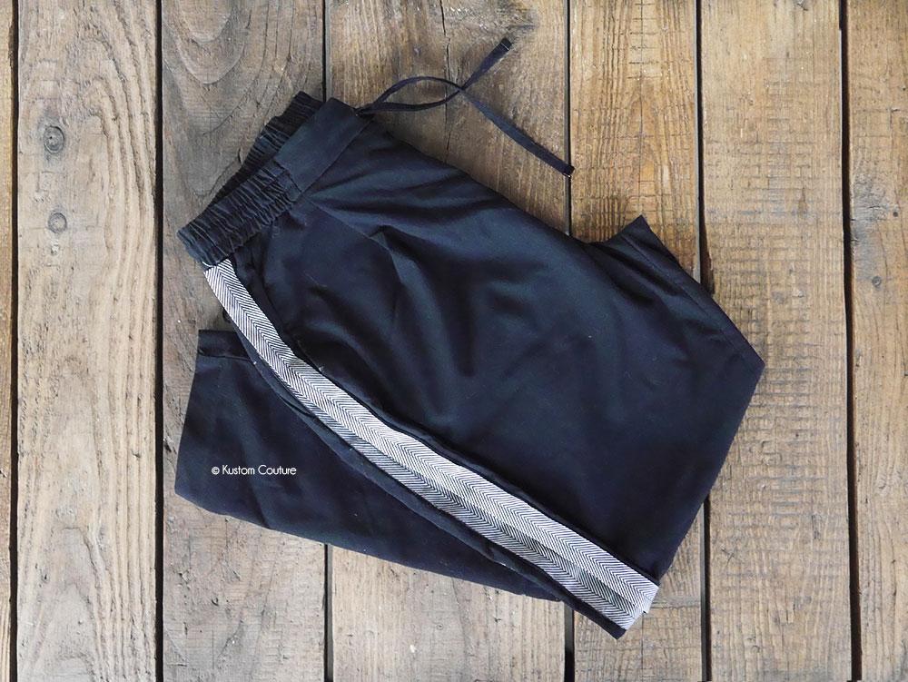 Customisation d'un pantalon avec des bandes latérales   Kustom Couture