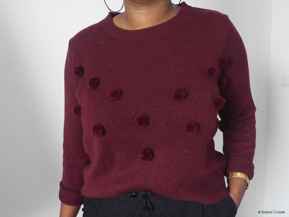 Customiser un pull basique avec des pompons | Kustom Couture
