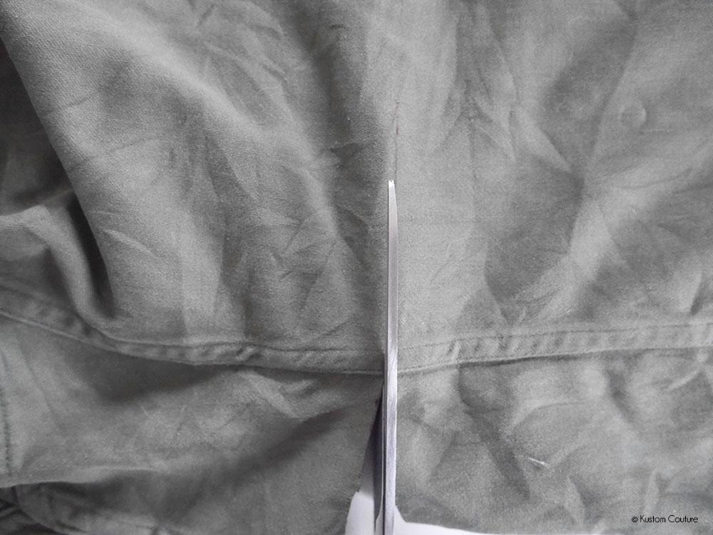 Customiser veste tailleur noire
