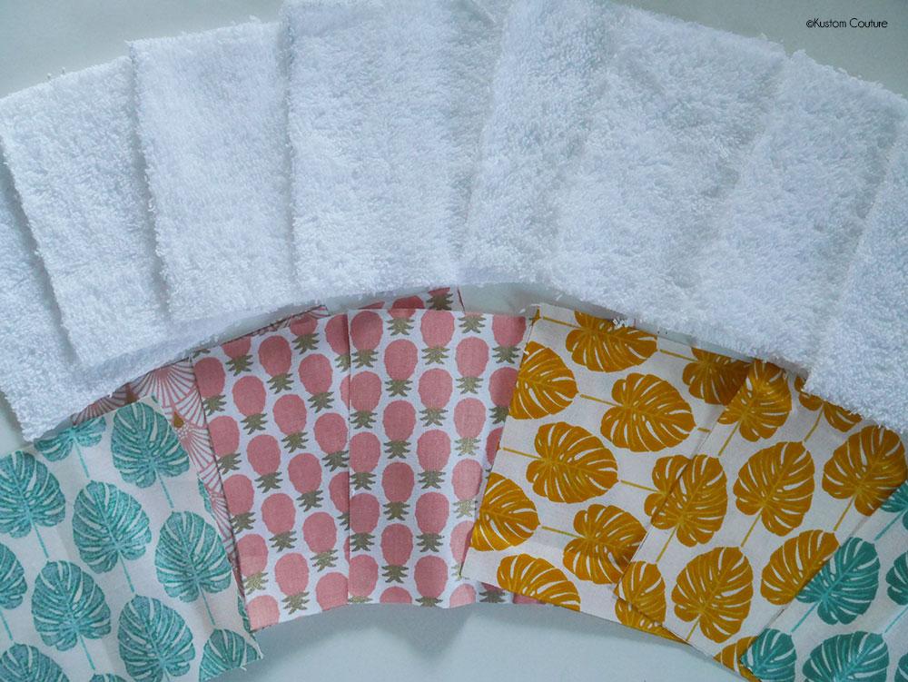 Coudre des lingettes démaquillantes lavables | Kustom Couture