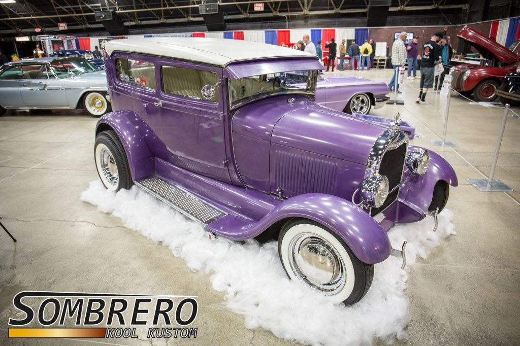 1928 Ford Model A 2-dr Sedan, Fred Steele, Ty-Rods CC, LA Roadsters, Satans Angels CC