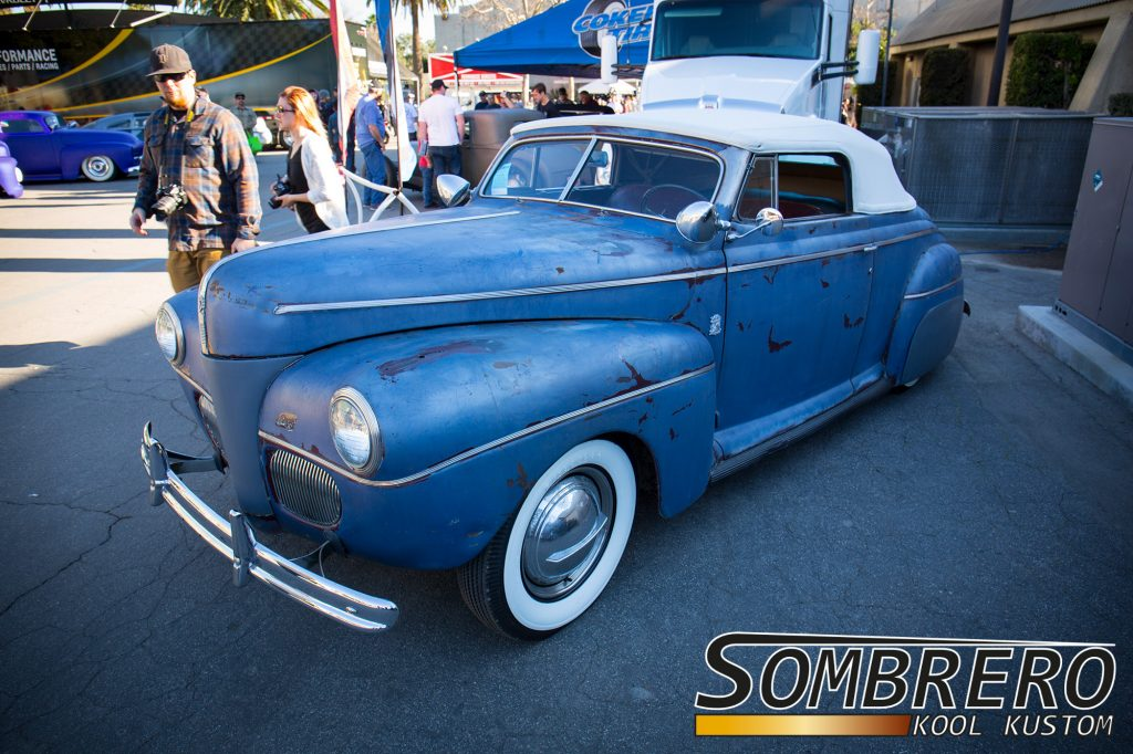 1941 Ford Convertible, Patina Paint, Spotlights, Inland Emperors