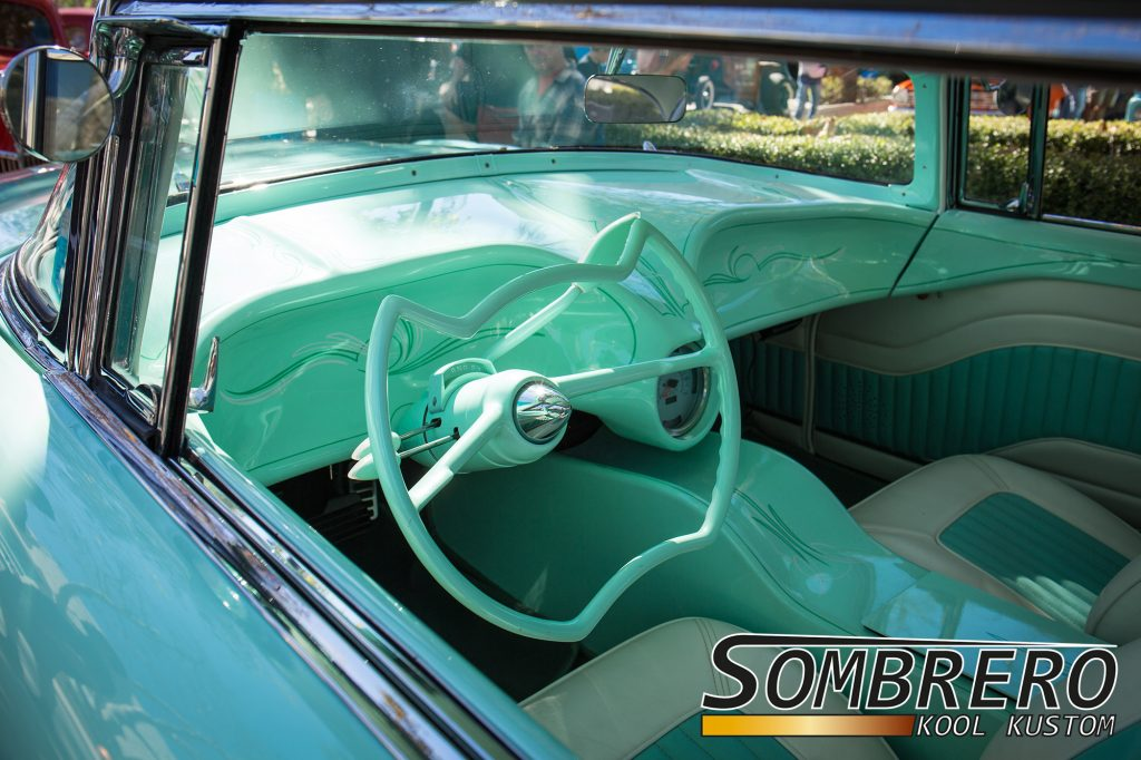 1956 Lincoln Capri 2dr Hardtop, Innenausstattung, Spacelook