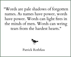 rothfuss quote words