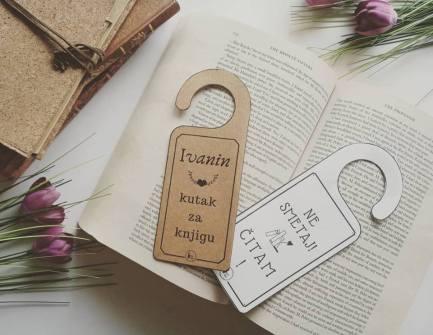 poklon za knjigoljupce oznake za vrata ne smetaj moj kutak za knjigu