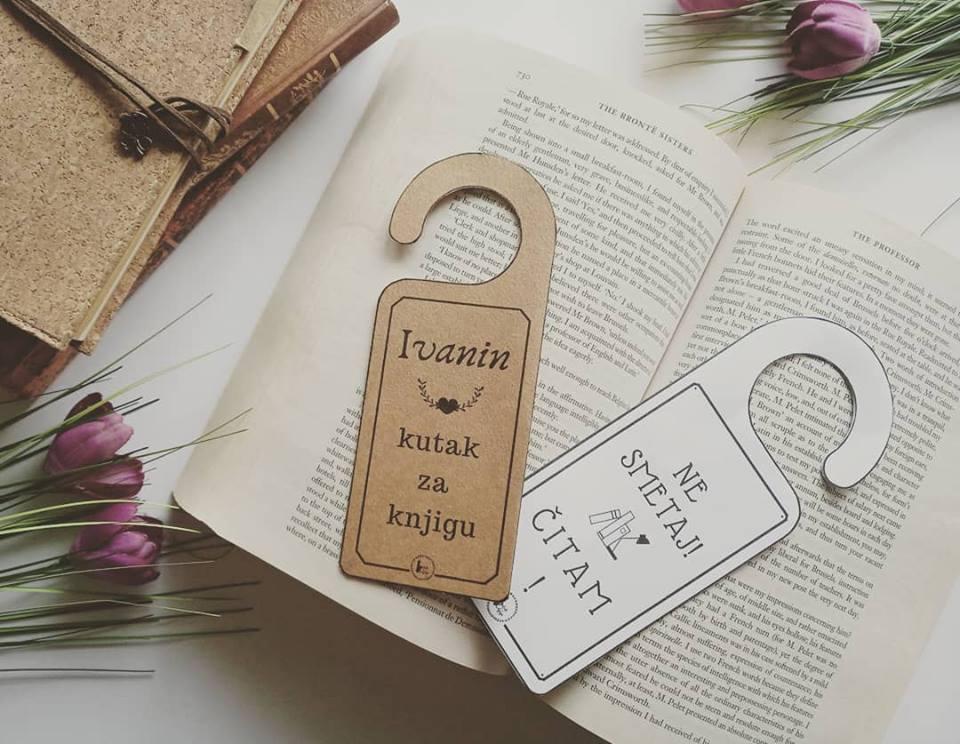 oznake za vrata ne smetaj moj kutak za knjigu