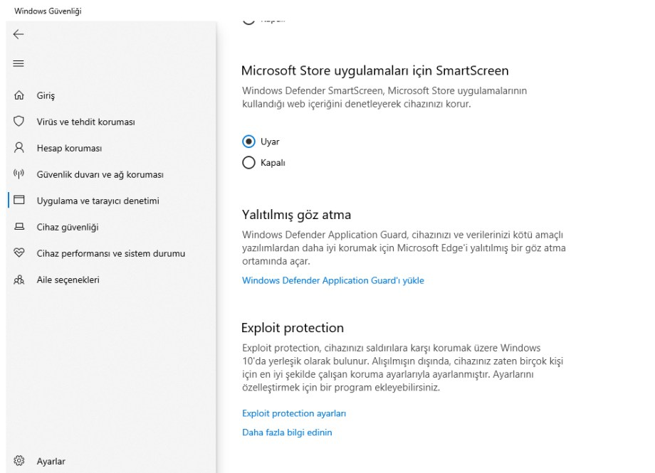 Windows Cfg ayarı Programa özel Cfg kapatma 2