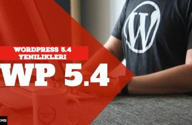 Wordpress 5.4 indir Yenilikler Site Sağlığı
