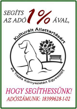 Kulturált Állattartásért és Tiszta Környezetért Egyesület - Adó 1%