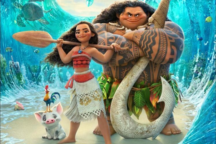 Disney's MOANA movie review and FREE printable coloring pages