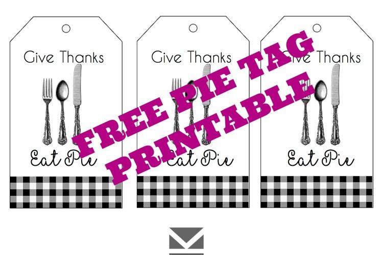 FREE Pie Printable