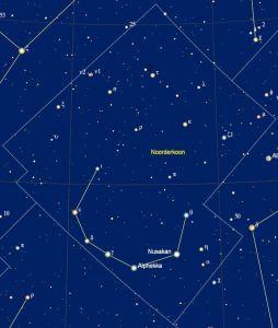 de namen van de sterren in het sterrenbeeld Corona Borealis - Noorderkroon