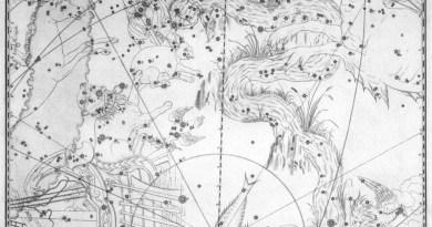 Het sterrenbeeld Eridanus uit de steratlas van John Bevis