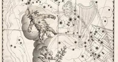 De Vacht van Gideon en de Duif van Noah uit de steratlas van Julius Schiller
