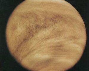 Het dikke wolkendek van Venus