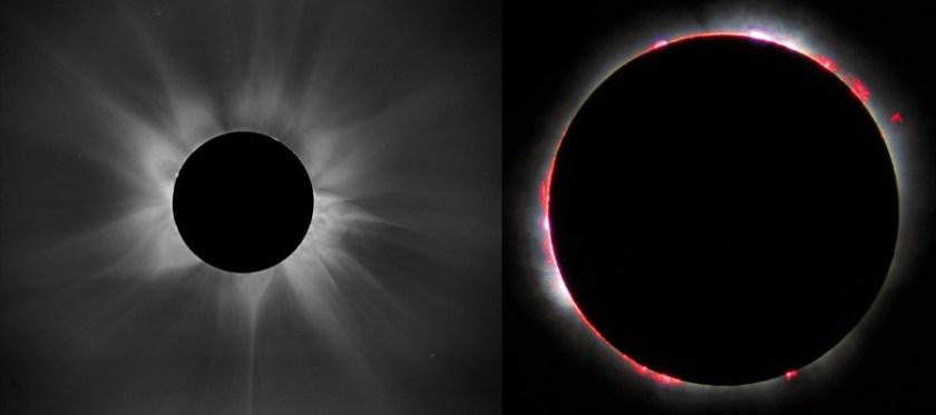 Corona en chromosfeer van de Zon
