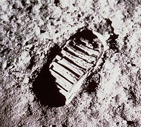 Voetafdruk op de Maan
