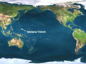 De locatie van de Marianen trog in de Indische Oceaan
