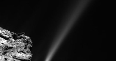 Uitbarsting op komeet 67P