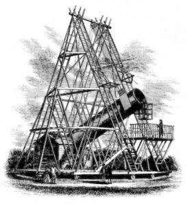 De grpte telescoop van Herschel in het Engelse Slough