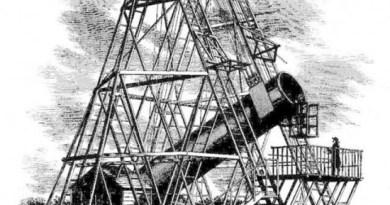 De grote telescoop van Herschel in het Engelse Slough