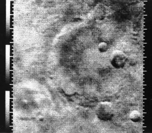 Mariner 4 foto van Mars