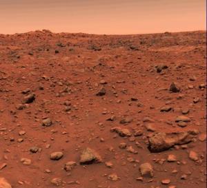 De eerste kleurenfoto van het oppervlak van Mars