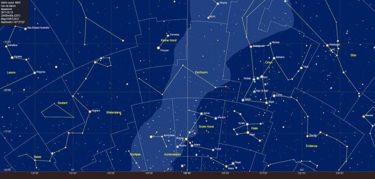 De zuidelijke sterrenhemel in februari 2018