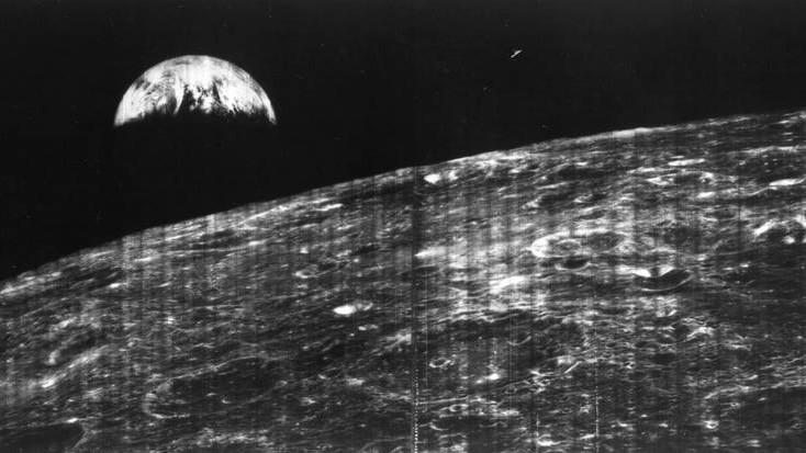 eerste foto van de Aare vanaf de Maan