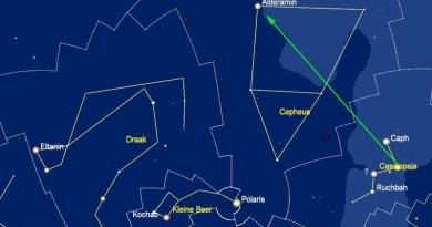 Alderamin in het sterrenbeeld Cepheus