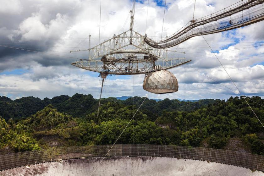 De Arecibo radiotelescoop op Puerto Rico