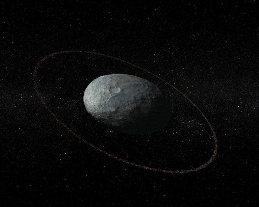 Haumea heeft ringen