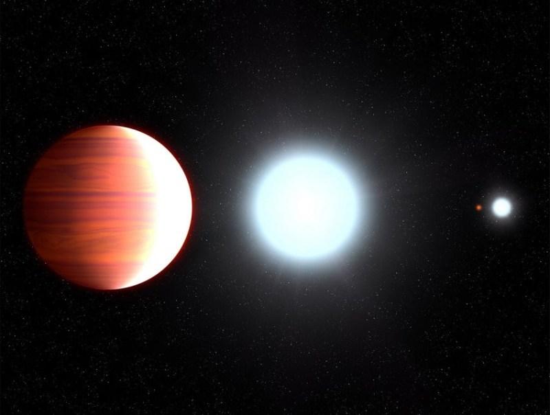 het regent titaniumdioxide op Kepler-13Ab