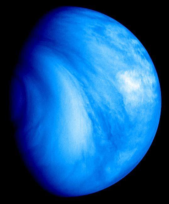Venus in ultraviolet licht