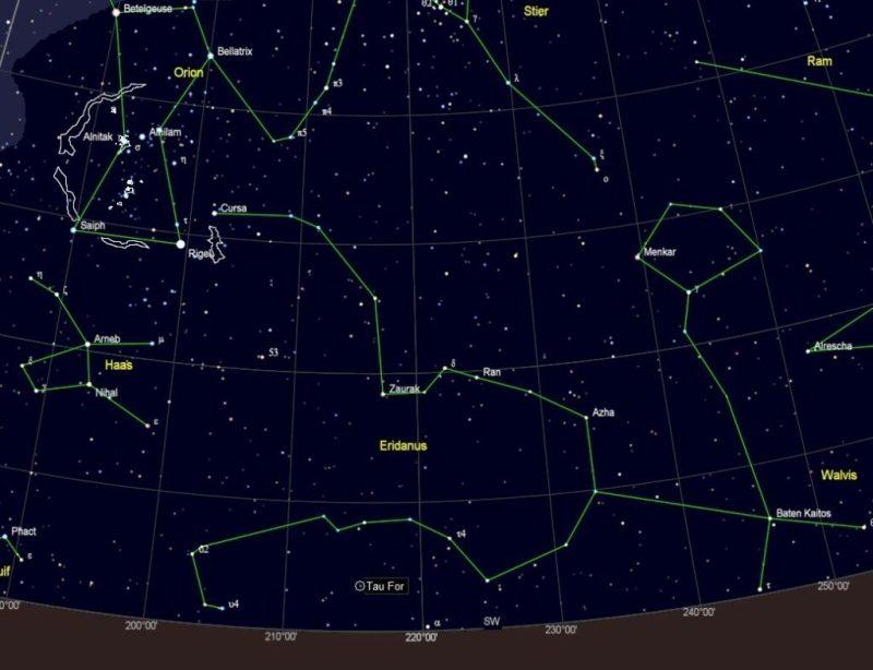 Van Orion naar Eridanus