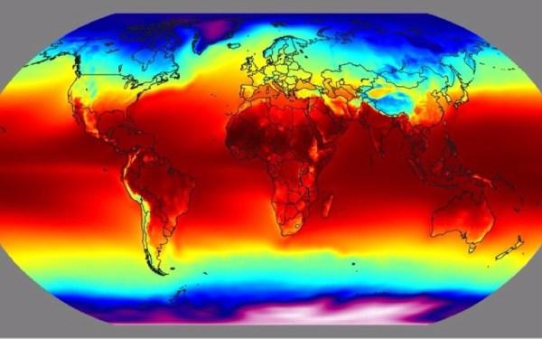 wat is de gemiddelde temperatuur op Aarde?