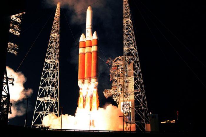 Delta IV Heavy lancering