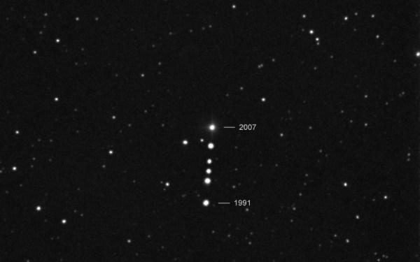 Deeigenbeweging van de ster van Barnard