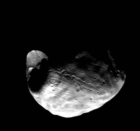 Phobos gefotografeerd door Viking 1