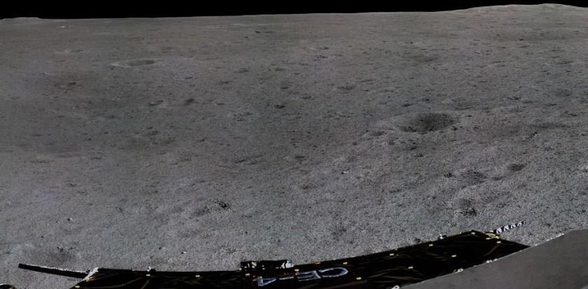 Uitsnede panorama gemaakt door de Chinese Chang'e 4
