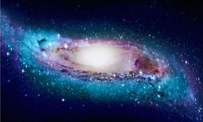 De gekromde en verdraaide Melkweg