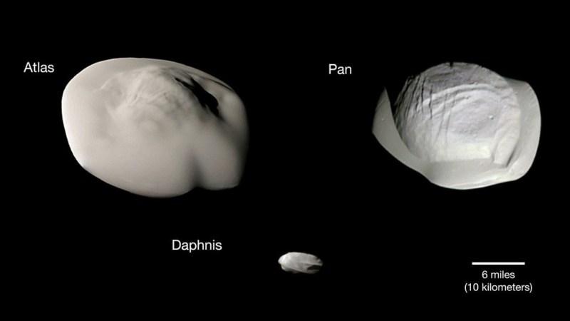 De kleine ravioli manen van Saturnus