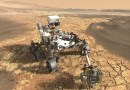 Mars 2020 rover op de rode planeet