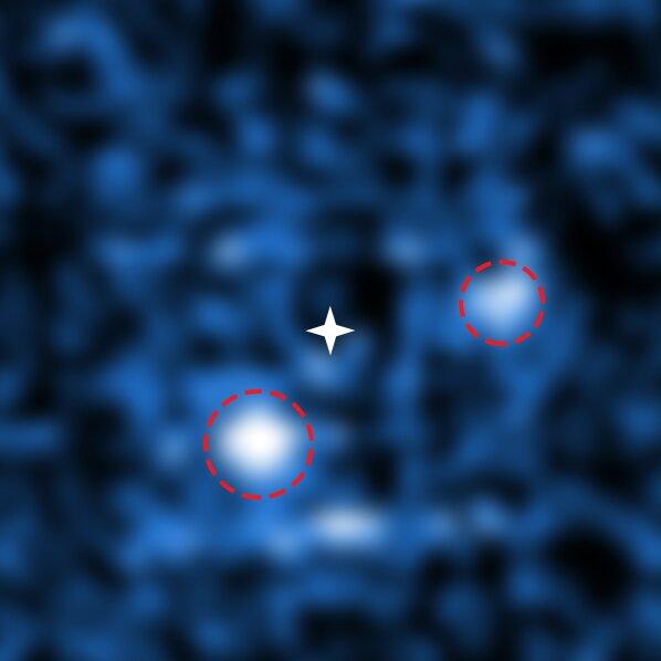 De twee exoplaneten bij de ster PDS 70