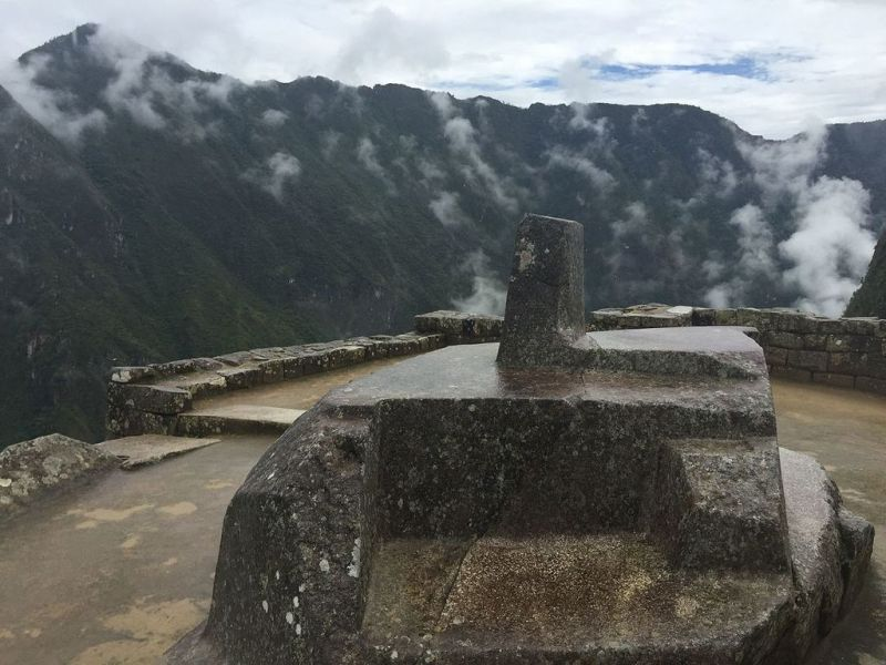 De Intihuata steen bij Machu Picchu