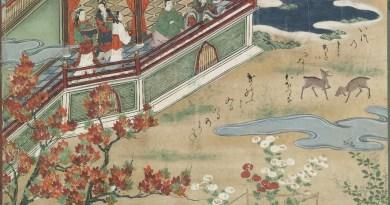 Urashima en Otohime kijken naar herten