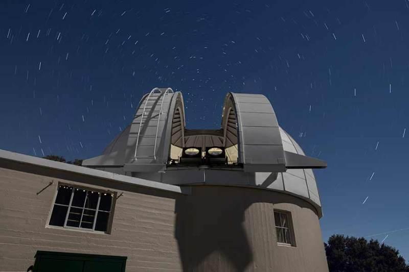 PANOSETI-telescopen in de Lick sterrenwacht