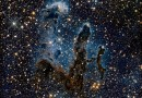 De Pillars of Creation in infrarood licht